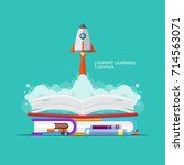 vector education book... | Shutterstock .eps vector #714563071