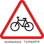 bicycle sign | Shutterstock .eps vector #714564979