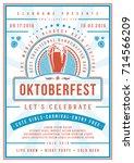 oktoberfest beer festival... | Shutterstock .eps vector #714566209