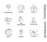 modern flat thin line icon set... | Shutterstock .eps vector #714570031