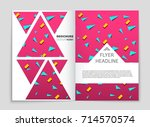 abstract vector layout... | Shutterstock .eps vector #714570574