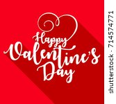 happy valentines day typography ... | Shutterstock .eps vector #714574771