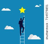 business target concept.... | Shutterstock .eps vector #714575851