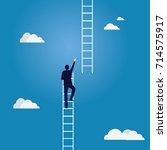 business target concept.... | Shutterstock .eps vector #714575917