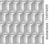 volume monochrome cubes  gray... | Shutterstock . vector #714576355