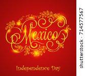 illustration for mexico... | Shutterstock .eps vector #714577567