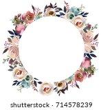 dusk blue pale pink gray white... | Shutterstock . vector #714578239