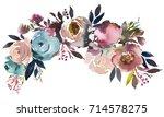 dusk blue pale pink gray white...   Shutterstock . vector #714578275