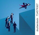 business challenge concept.... | Shutterstock .eps vector #714579307