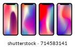 vector phone wallpaper... | Shutterstock .eps vector #714583141