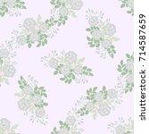 flowery bright pattern in small ... | Shutterstock . vector #714587659