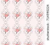 pretty vintage feedsack pattern ... | Shutterstock . vector #714590224