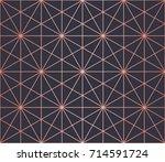 simple geometric pattern.... | Shutterstock .eps vector #714591724