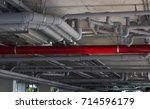 construction work. water pipe...   Shutterstock . vector #714596179