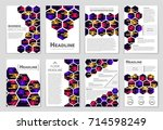 abstract vector layout... | Shutterstock .eps vector #714598249
