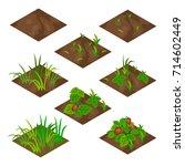 garden or farm isometric tile... | Shutterstock .eps vector #714602449
