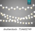 christmas lights isolated on... | Shutterstock .eps vector #714602749