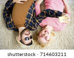 young fashionable couple | Shutterstock . vector #714603211