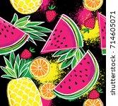 fashion tropics funny... | Shutterstock .eps vector #714605071
