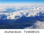 white clouds in the blue sky.... | Shutterstock . vector #714608131