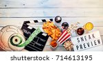 sneak film preview panorama... | Shutterstock . vector #714613195