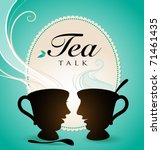 tea talk   Shutterstock .eps vector #71461435