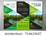 business brochure. flyer design.... | Shutterstock .eps vector #714615637