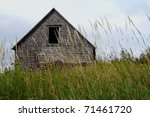 Abandoned Barn In Tall Grass...