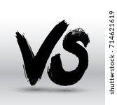 symbol competition vs. versus... | Shutterstock .eps vector #714621619