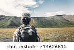 young traveler girl with