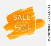 sale save up to 50  off sign... | Shutterstock .eps vector #714627751
