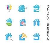 set of real estate logo... | Shutterstock .eps vector #714627931