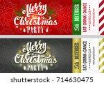 christmas party invitation... | Shutterstock .eps vector #714630475