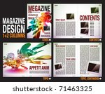 magazine layout design template ... | Shutterstock .eps vector #71463325