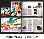 magazine layout design template ...   Shutterstock .eps vector #71463325