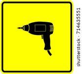 electric screwdriver sign | Shutterstock .eps vector #714635551