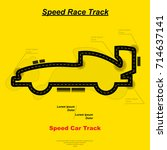 yellow speed race track map in... | Shutterstock .eps vector #714637141