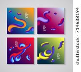 trendy abstract covers.... | Shutterstock .eps vector #714638194