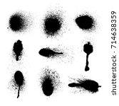 vector set of ink splashes. eps ... | Shutterstock .eps vector #714638359