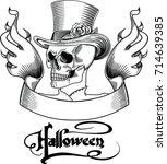 hand drawn black line male...   Shutterstock .eps vector #714639385