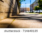 summer in the city  the empty... | Shutterstock . vector #714640135