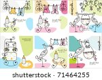 set of baby cards | Shutterstock .eps vector #71464255