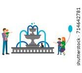colorful illustration set of... | Shutterstock .eps vector #714642781