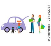colorful illustration set of... | Shutterstock .eps vector #714642787