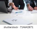 team in law firm working in...   Shutterstock . vector #714642871