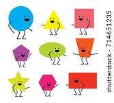 cartoon geometric funny...   Shutterstock .eps vector #714651235
