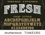 vintage font alphabet...   Shutterstock .eps vector #714651301