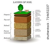 layers of soil  education... | Shutterstock .eps vector #714652237