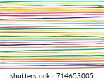 horizontal colorful lines... | Shutterstock . vector #714653005