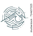 hand drawn vector illustration... | Shutterstock .eps vector #714657325